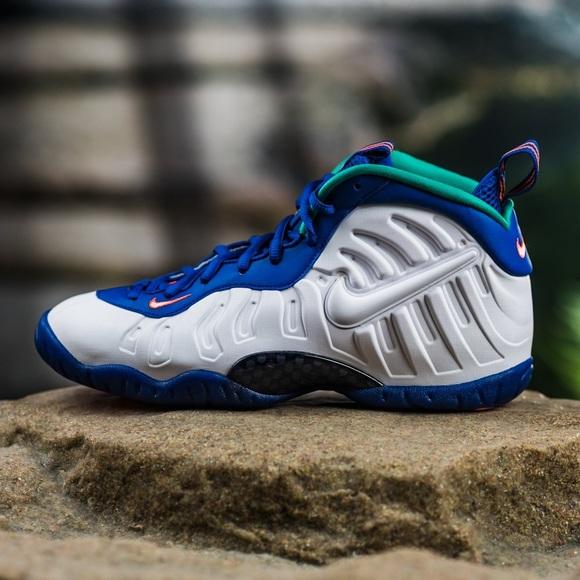 Nike Little Posite Foamposite Neptune Green Size 11C Boys Shoes 843755-404 NEW